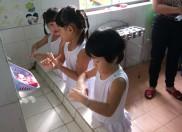 trương mầm non Đại Hòa tổ chức chuyên đề vệ sinh