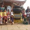 Hình ảnh trẻ  4-5 tuổi tham quan các di tích lịch sử địa phương